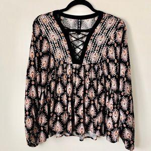 LORD & TAYLOR Design Lab Boho blouse S